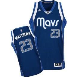 Wesley Matthews Swingman Navy Blue Dallas Mavericks #23 Alternate Jersey