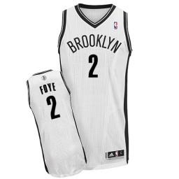 Randy Foye Authentic White Brooklyn Nets #2 Home Jersey