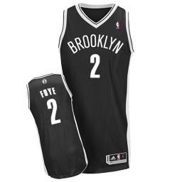 Randy Foye Authentic Black Brooklyn Nets #2 Road Jersey