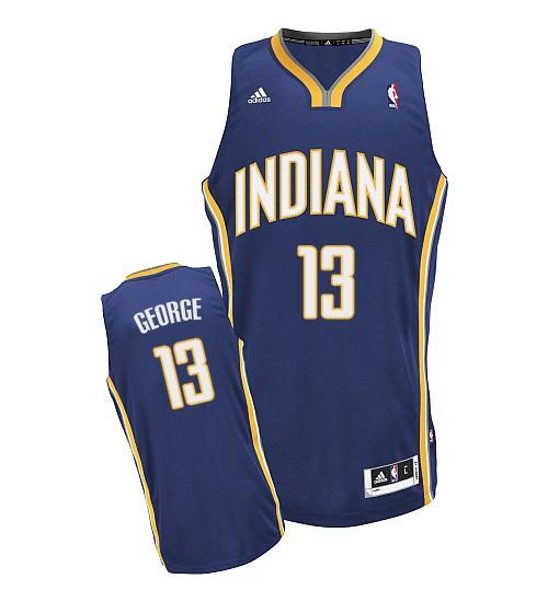 Paul George Swingman Navy Blue Indiana Pacers #13 Road Jersey