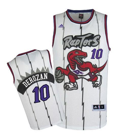 DeMar DeRozan Swingman White Toronto Raptors 2014-15 Hardwood Classics #10 Jersey