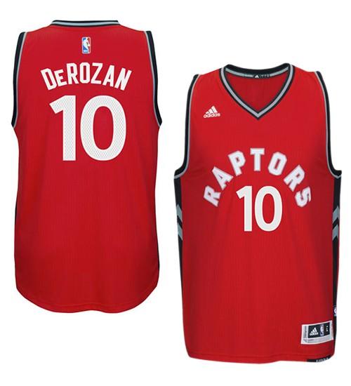 DeMar DeRozan Authentic Red Toronto Raptors #10 Jersey