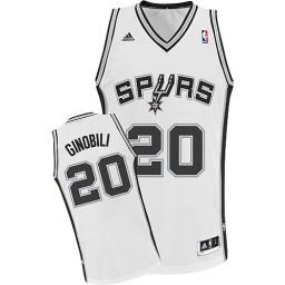 Manu Ginobili Swingman White San Antonio Spurs #20 Home Jersey