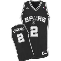 Kawhi Leonard Swingman Black San Antonio Spurs #2 Road Jersey