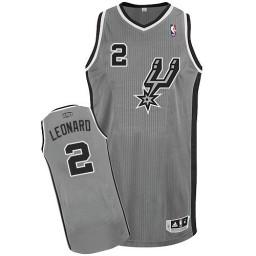Kawhi Leonard Authentic Silver Grey San Antonio Spurs #2 Alternate Jersey