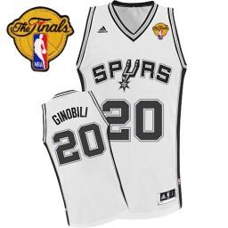 Manu Ginobili Swingman White Finals San Antonio Spurs #20 Home Jersey