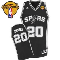 Manu Ginobili Swingman Black Finals San Antonio Spurs #20 Road Jersey