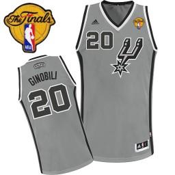 Manu Ginobili Swingman Silver Grey Finals San Antonio Spurs #20 Alternate Jersey