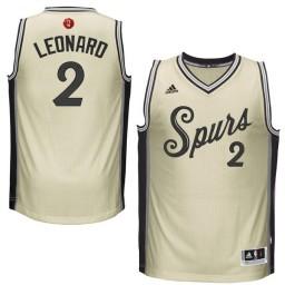 Kawhi Leonard Authentic Cream San Antonio Spurs 2015-16 Christmas Day #2 Jersey