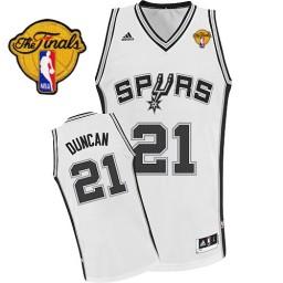 Tim Duncan Swingman White Finals San Antonio Spurs #21 Home Jersey