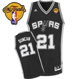 Tim Duncan Swingman Black Finals San Antonio Spurs #21 Road Jersey