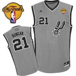 Tim Duncan Swingman Silver Grey Finals San Antonio Spurs #21 Alternate Jersey