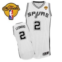 Kawhi Leonard Authentic White Finals San Antonio Spurs #2 Home Jersey
