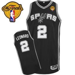 Kawhi Leonard Authentic Black Finals San Antonio Spurs #2 Road Jersey