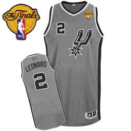 Kawhi Leonard Authentic Silver Grey Finals San Antonio Spurs #2 Alternate Jersey