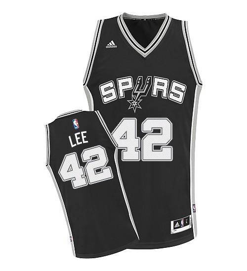 David Lee Swingman Black San Antonio Spurs #42 Road Jersey