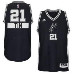 Tim Duncan Authentic Black San Antonio Spurs 2014-15 Christmas Day #21 Jersey