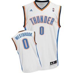 Russell Westbrook Swingman White Oklahoma City Thunder #0 Home Jersey