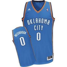 Russell Westbrook Swingman Royal Blue Oklahoma City Thunder #0 Road Jersey