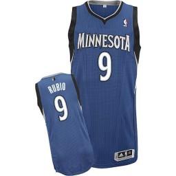 Ricky Rubio Authentic Slate Blue Minnesota Timberwolves #9 Road Jersey