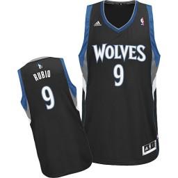 Ricky Rubio Swingman Black Minnesota Timberwolves #9 Alternate Jersey