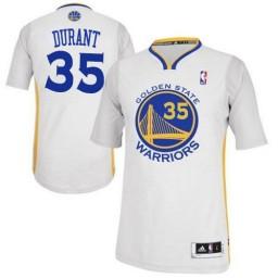 KevDurant Authentic White Golden State Warriors #35 Alternate Jersey